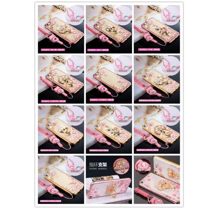 High quality classic Secret Garden Rhinestone Soft Shell Case Cover For OPPO A57\A39(