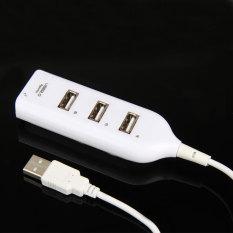 Hình ảnh Tốc Độ cao Mini 4 Cổng USB 2.0 Cổng USB cho Laptop MÁY TÍNH Máy Tính (Trắng)