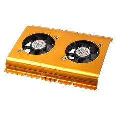 Hình ảnh HKS 3.5 Inch Dual Cooling Fan Hard Disk Driver HDD Cooler for PC SATA IDE - intl