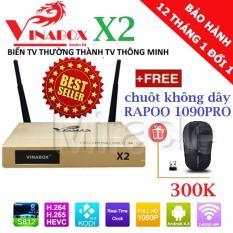 Chiết Khấu Android Tivi Box Vinabox X2 Tặng Chuột Rapoo 1090Pro Sieu Nhạy Trị Gia 300K Va Tai Khoản Vip Phan Phối Bởi Miracles Company Vinabox Trong Hồ Chí Minh