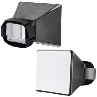 Hộp tản sáng mini đèn flash rời - softbox flash diffuser - kích thước 12.5 x 10cm thumbnail