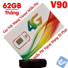 Mua Hot 2018 Sim 3G 4G Viettel V90 Km 60Gb Thang Gọi Miễn Phi Nội Mạng 50 Phut Ngoại Mạng Rẻ Hà Nội