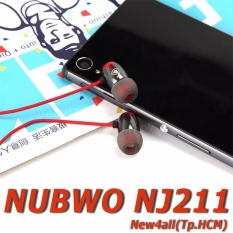 Cửa Hàng Hot Nubwo Nj211 Tai Nghe Nhet Tai Nubwo Nj211 Day Chống Rối Đỏ Đen Trực Tuyến