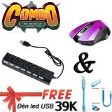Mua Hub Chia 7 Cổng Usb 2 High Speed Va Chuọt Khong Day Game Thủ Limeide G2 Wireless Optical Mouse Tim Tặng Đen Led Cổng Usb Sieu Sang Mới