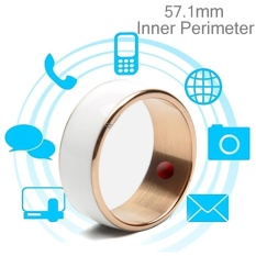 Hình ảnh JAKCOM R3F 18K Rose Gold Smart Ring, Waterproof and Dustproof, Health Tracker, Wireless Sharing, Phone Call, Push Message, Inner Perimeter: 57.1mm(White) - intl