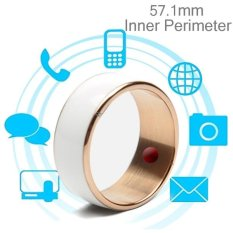 Hình ảnh JAKCOM R3F 18K Rose Gold Smart Ring, Waterproof and Dustproof, Health Tracker, Wireless Sharing, Phone Call, Push Message, Inner Perimeter: 57.1mm(White) - intl