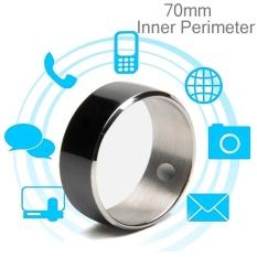 Hình ảnh JAKCOM R3F Amorphous Titanium Alloy Smart Ring, Waterproof and Dustproof, Health Tracker, Wireless Sharing, Phone Call, Push Message, Inner Perimeter: 70mm(Black) - intl