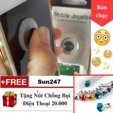 Hình ảnh Joystick Nano + Tặng Nút Chống Bụi cho điện thoại - Nút Bấm Chơi Game Dành Cho Game Thủ Mobile