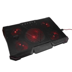 Hình ảnh Justgogo 12-17inch Máy tính xách tay Máy tính xách tay Cooling Pad Holder Với điều chỉnh 5 LED Fans