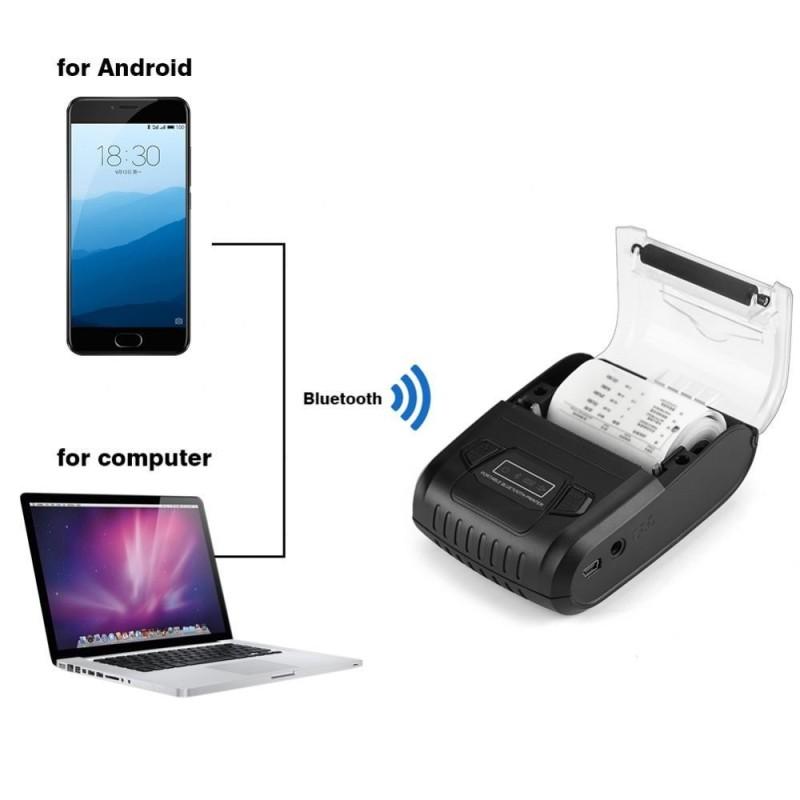 Justgogo 58mm Mini Portable POS Wireless Bluetooth Receipt Thermal Printer - intl