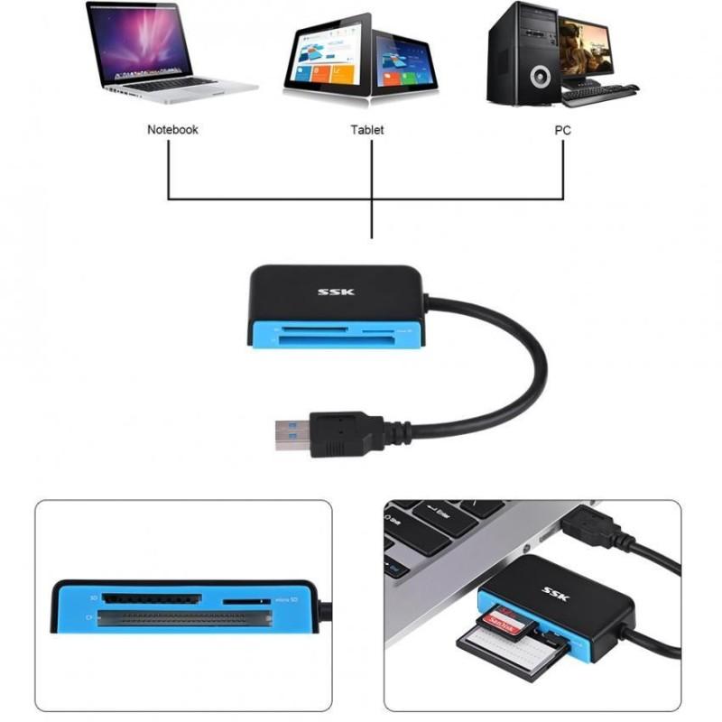 Bảng giá Justgogo SSK USB 3.0 Đa Năng Tốc Độ Cao Trong 1/SD/TF/Đầu Đọc Thẻ Micro SD- quốc tế Phong Vũ