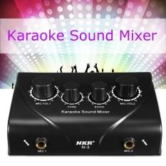 Hình ảnh Karaoke Trộn Âm Thanh Dual Mic Đầu Vào Với Dây Cáp cho Giai Đoạn Nhà KTV Đen G7G1-quốc tế
