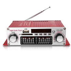 Hình ảnh Amply kentiger HY-602 HiFi Stereo Power Bộ Khuếch Đại Âm Thanh Kỹ Thuật Số với Điều Khiển HỒNG NGOẠI FM MP3 USB Phát Lại