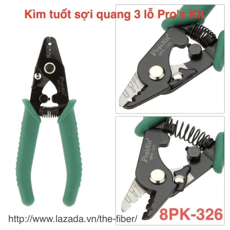 Bảng giá Kìm tuốt sợi quang Pros Kit 8PK-326 (3 lỗ) (Made in Taiwan) Phong Vũ