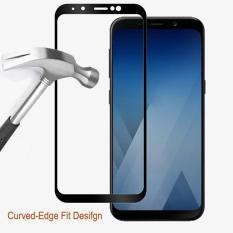 Kính cường lực 3D Full màn cho Galaxy a8 2018 (Viền đen)