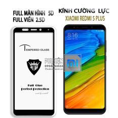 Kính cường lực 9H dành cho máy Xiaomi Redmi 5 Plus - Full viền đen