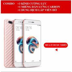 Giá Bán Kinh Cường Lực Full Man Hinh Cho Xiaomi Mi 5X Mi A1 Combo 03 Miếng Miếng Dan Carbon Mặt Lưng Dung Dịch Lấp Hở Viền Mới