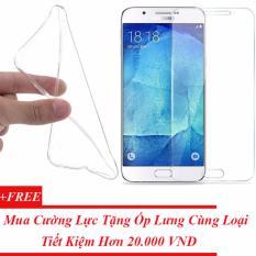 Kính Cường Lực Samsung Galaxy A8 + Tặng Miễn Phí Ốp Lưng Dẻo Silicon Cùng Loại