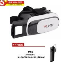 Hình ảnh Kính thực tế ảo 3D dùng cho điện thoại VR Box thế hệ 2 + Tặng 1 tai nghe blutooth cao cấp cực hay