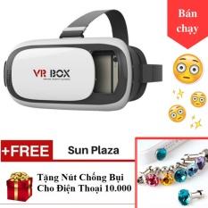 Hình ảnh ►Kính thực tế ảo 3D◄ - Tặng kèm nút chống bụi cho điện thoại - VR Box thế hệ thứ 2