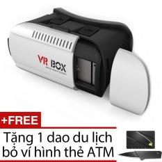 Hình ảnh Kính thực tế ảo VR Box 3D + Tặng 1 dao du lịch bỏ ví hình thẻ ATM ( màu đen )