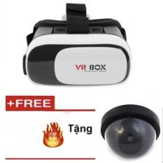 Kính thực tế ảo VR Box thế hệ thứ 2 (Đen phối trắng) +Mô hình Camera chống trộm có LED cảnh báo