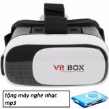 Kính thực tế ảo VR Box thế hệ thứ 2 (Đen phối trắng)+Máy nghe nhac mp3