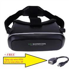 Hình ảnh Kính thực tế ảo VR (Đen) tặng cáp mini otg hỗ trợ xem phim 3D