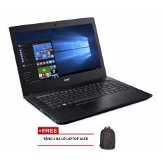 Laptop ACER Aspire E5-475-31KC NX.GCUSV.001 i3-6006U/4G/500G/14 (Xám) + Tặng 1 balo laptop ACER - Hãng phân phối chính thức