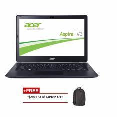 Laptop Acer Aspire V3-371-560K NX.MPGSV.021 i5-5200U/4G/500G/13.3 (Xám) + Tặng 1balo laptop ACER - Hãng phân phối chính thức