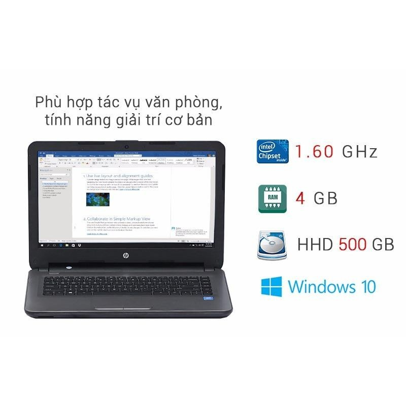 Laptop hp 14 am065tu N 3710 Ram 4G hdd 500gb Nhập Khẩu Nhật giá rẻ tặng túi và chuột full box good 100%