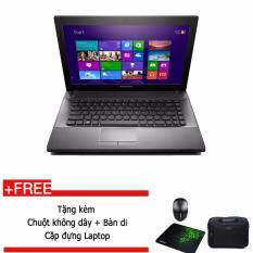 Laptop Lenovo G4070 (5941-4338) - intel Pentium 3558U 1.7GHz, 2GB RAM, 500GB HDD, Intel HD Graphics, 14.0 inch, Free Dos, tặng chuột không dây, bàn di, cặp đựng Laptop + Hàng nhập khẩu.