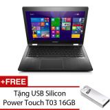 Ôn Tập Trên Laptop Lenovo Yoga 500 14 80N400Gkvn 14Inch Đen Tặng 1 Usb Silicon Power Touch T03 16Gb