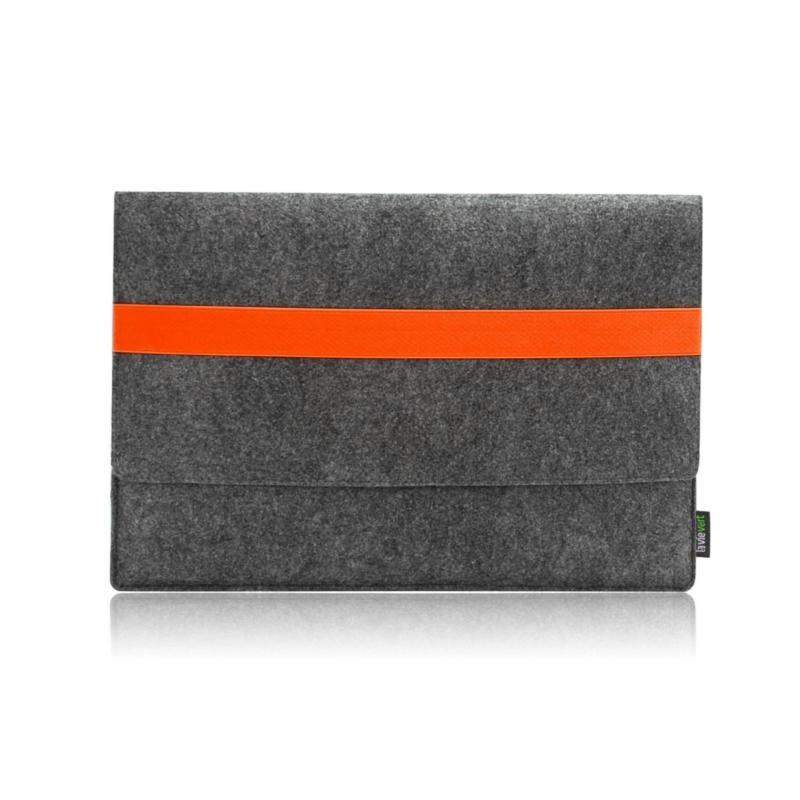 Bảng giá Lavievert Handmade Gray Felt Case Bag Sleeve with Orange Elastic Band for Apple 13 Phong Vũ