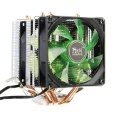 Giá Bán Led 4 Heat Pipe Quiet Cpu Cooler Heatsink Dual Fan Radiator For Lga 1155 775 Amd Green Intl Not Specified