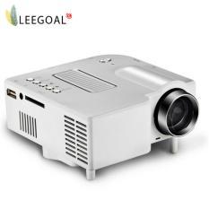 Leegoal Nhà hát gia đình UC28 Di Động 1200 lumens 1080 p HD USB USB Trò chơi video Mini LED máy chiếu-quốc tế