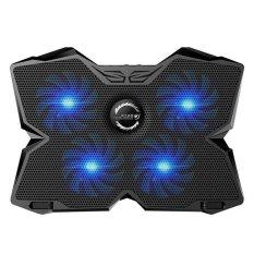 Hình ảnh Leegoal KOBWA Laptop Pad Đứng Cực Chơi Game Laptop Dành Cho 15.6-17 inch Laptop Có 1200 vòng/phút 4 Người Hâm Mộ, cổng USB kép Và Đa Góc Nghiêng Tùy Chọn. (màu xanh dương)-quốc tế