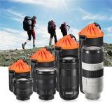 Bảo Vệ ống kính Túi Ốp Lưng Bao da cho MÁY Ảnh DSLR Canon Sony Nikon Size XL-quốc tế