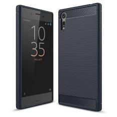 Hình ảnh Lenuo Sợi Carbon Dẻo Silicone Chải Chống kích tế bào Lưng điện thoại TPU Mềm Mại Ốp Lưng cho Sony Xperia XZs và XZ-quốc tế