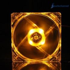 Đèn Quạt Tản Nhiệt CPU Máy Tính PC Ốp Lưng Trong Suốt Quad 12 cm Tản Nhiệt Màu Vàng-quốc tế