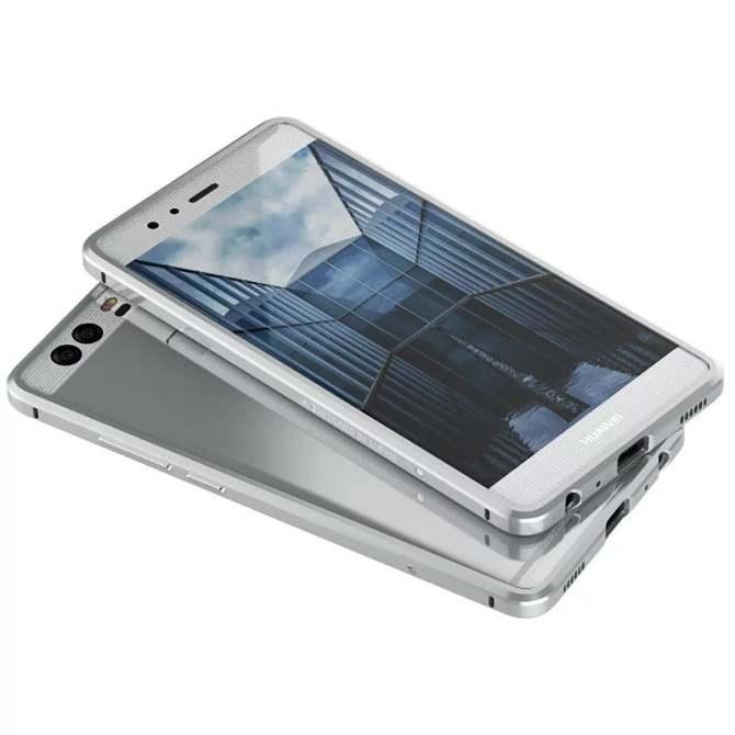 Lightweight Design Luxury Aluminum Frame Bumper for Huawei P9 Lite Metal Phone Cases(Silver) - intl
