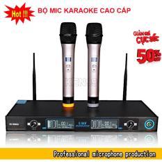 Hình ảnh Lk Tru Tinh Karaoke, Bộ Micro Không Dây + Đầu Thu Micro Hát Karaoke Cực Đỉnh, Mic Không Dây Karaoke Cao Cấp   Micro Chống Hú, Tiết Kiệm Pin - Bh Uy Tín Bởi Ken99 Mẫu 233