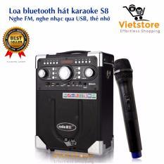 Loa Bluetooth Hat Karaoke Kiem Trợ Giảng Xach Tay Đa Năng Tặng Kem Mic Khong Day Aige S8 2017 Daile Chiết Khấu