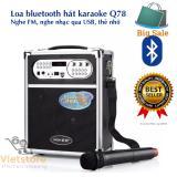 Giá Bán Loa Bluetooth Hat Karaoke Kiem Trợ Giảng Xach Tay Đa Năng Tặng Kem Mic Khong Day Q78Bt 2017 Rẻ