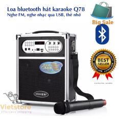 Chiết Khấu Loa Bluetooth Hat Karaoke Kiem Trợ Giảng Xach Tay Đa Năng Tặng Kem Mic Khong Day Q78Bt 2017 Có Thương Hiệu