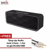 Ôn Tập Trên Loa Bluetooth Suntek Sc211 Xam Đen Tặng Cap Audio Jack 3 5Mm
