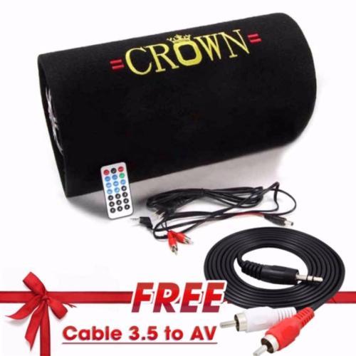 Loa Crown số 6 tròn + tặng dây AV