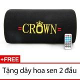 Loa Crown Cỡ Số 6 Kiểu Bẹt Đen Tặng 1 Day Hoa Sen 2 Đầu Hồ Chí Minh