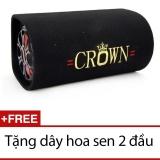 Giá Bán Loa Crown Cỡ Số 8 Kiểu Tron Đen Tặng 1 Day Hoa Sen 2 Đầu Có Thương Hiệu