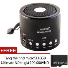 Bán Loa Đa Năng Wster Ws A8 Đen Tặng 1 Thẻ Nhớ Microsd 8Gb Ultimate 3 Rẻ